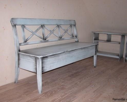 Декор мебели под старину фото