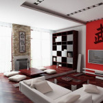 Интерьер гостиной в японском стиле