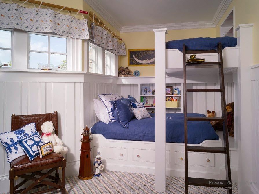 Необычная кровать в детской