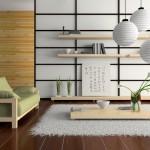 Дизайн современной гостиной в японском стиле фото