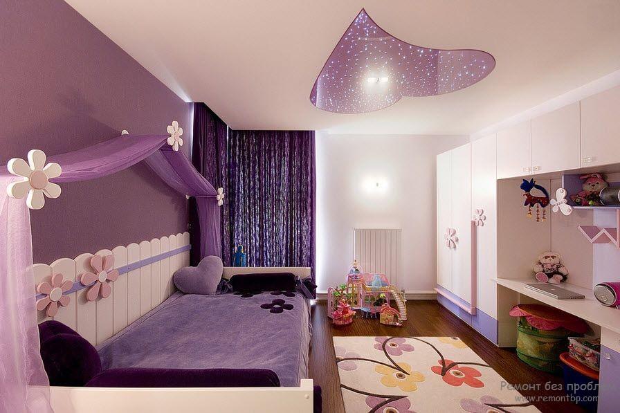 Фиолетовая детская для девочки