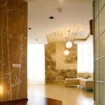 Дизайн современной гостиной в японском стиле