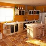 Отделка пола на кухне линолеум