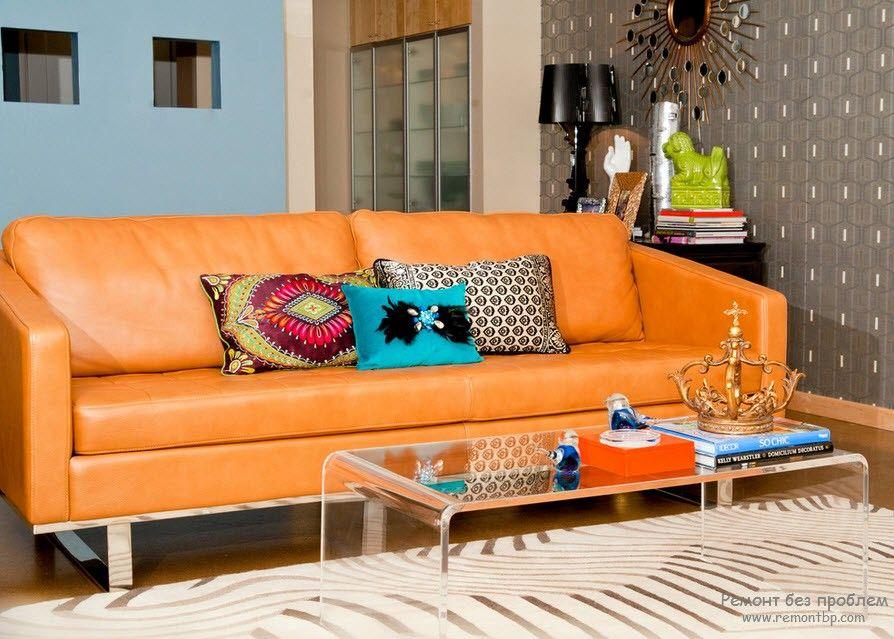 Фотография дивана в гостиной