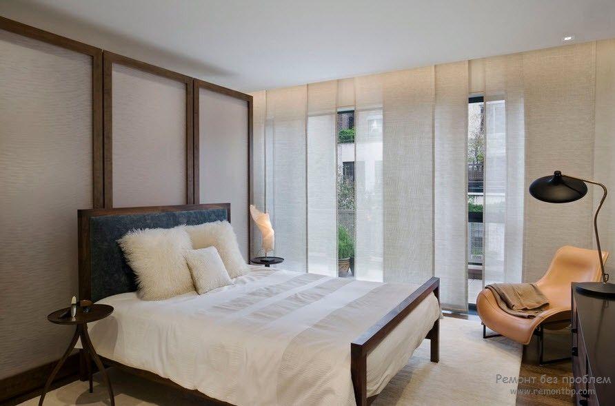 Японские шторы-панели: фото в интерьере квартиры, материалы и уход