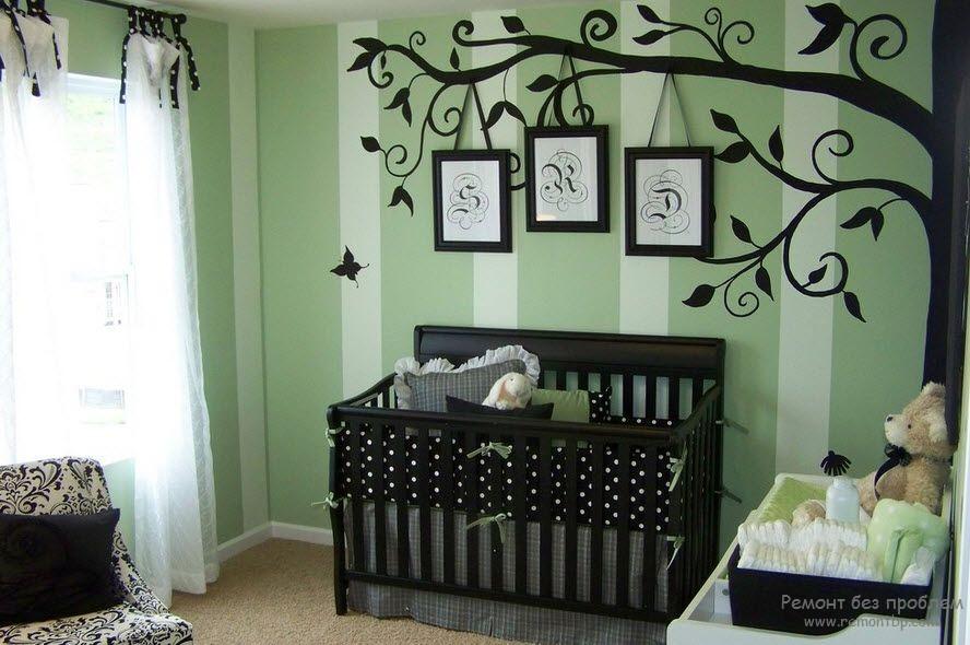 Декоретто на стене детской
