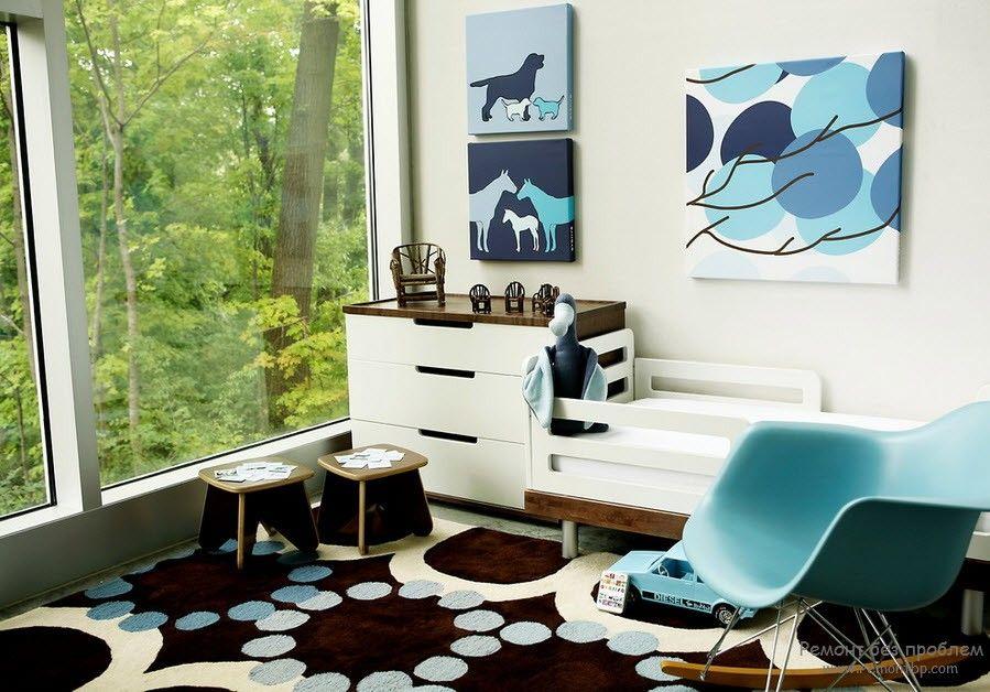 Удачное сочетание дизайна помещения с картиной