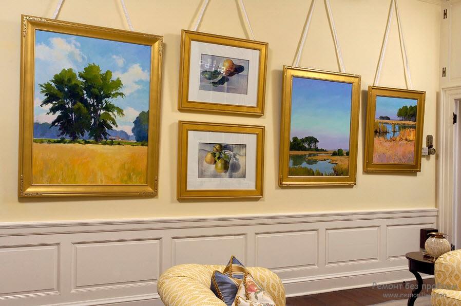 Картина в гостиной фото