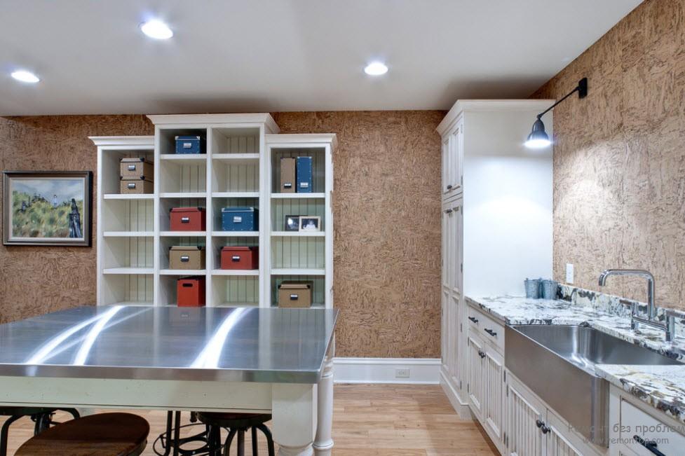 Пробковое покрытие на кухне