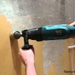 Как снять краску перфоратором