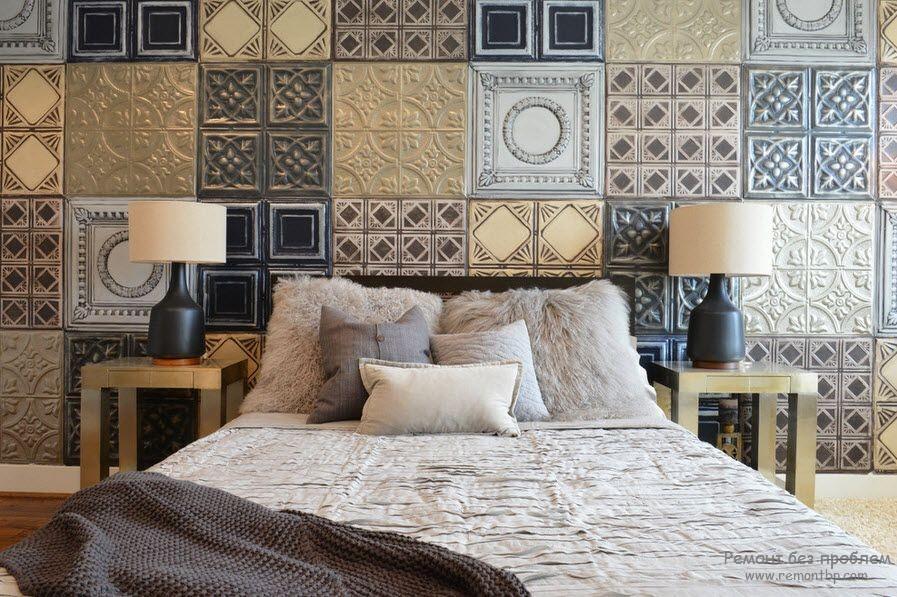 Плитка в интерьере спальни