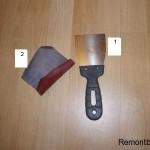 Как снять краску шпателем