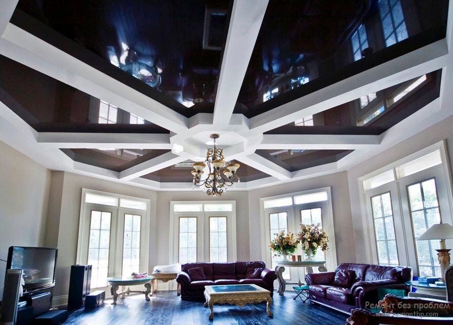 Виды подвесных потолков: грильято, натяжной, реечный, решетчатый