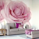Фотообои в интерьере роза