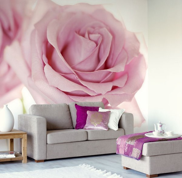 Фотообои розы в дизайне интерьера
