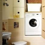 Как расположить стиралку в маленькой ванной