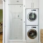 Как расположить стиралку в ванной