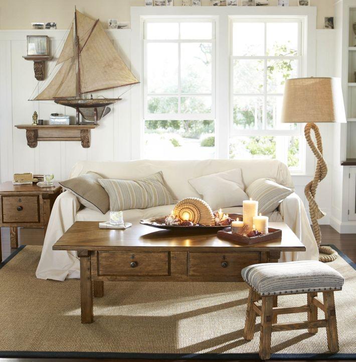 Мебель из дерева в морском стиле
