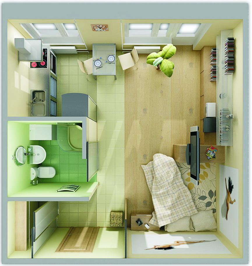 Интерьер в маленьких квартирах фото