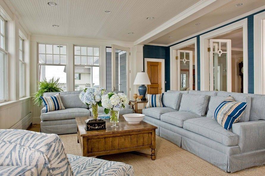 Как обустроить дизайн комнаты в морском стиле