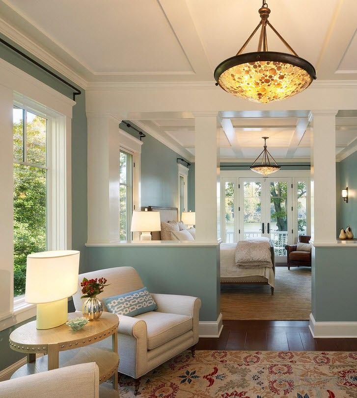 Освещение комнаты в морском стиле