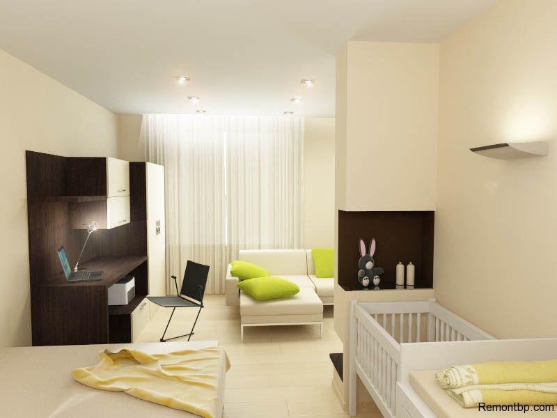 Как обставить однокомнатную квартиру с детской