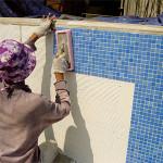 Монтаж мозаичной плитки