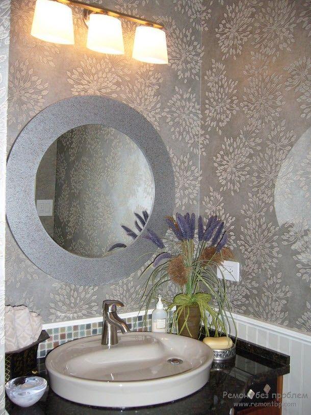 Фото обоев в ванной комнате