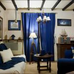 Светло синяя комната в морском стиле