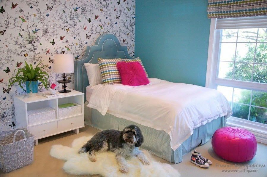 Дизайн флизелиновых обоев в спальне