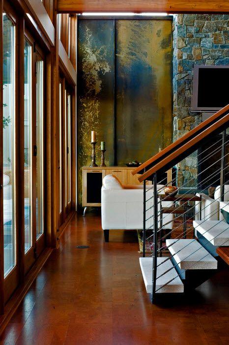 Стильный дизайн пробкового пола в комнатах: кухня, спальня, гостиная