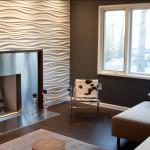 Рельефные 3D панели для стен: монтаж и фото в интерьере