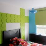 Дизайн комнаты Круглая фактура 3D панели фото