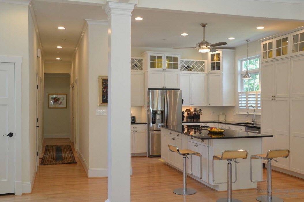 Современный дизайн потолка на кухне, 30 стильных идей оформления