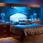Аквариум в интерьере спальни