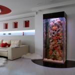 Аквариум в интерьере гостиной фото