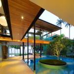 Ультрасовременный дом в стиле бунгало с бассейном