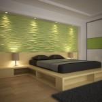 Спальная комната рельефные панели