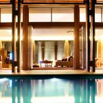 Современный дом в стиле бунгало с бассейном
