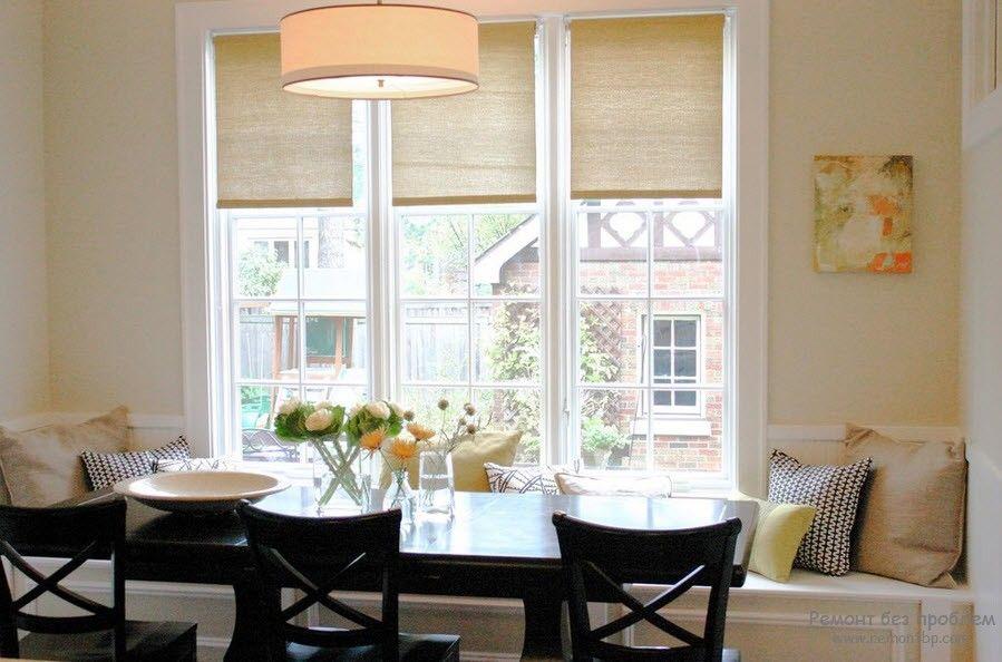 Дизайн комнаты с рулонными жалюзи