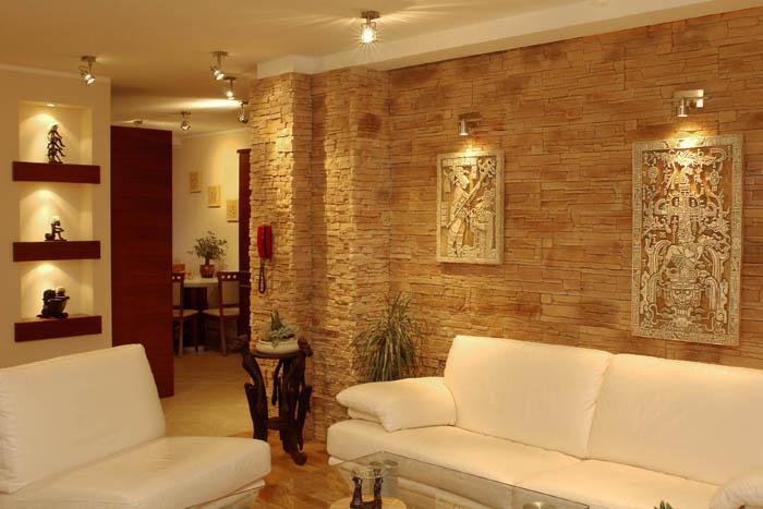 Отделка стен декоративным камнем фото и описание  Ремонт