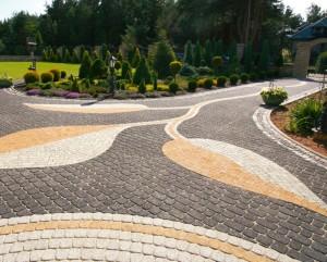 Красивая тротуарная плитка в интерьере