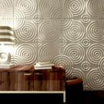 Гостиная рельефные панели круглые