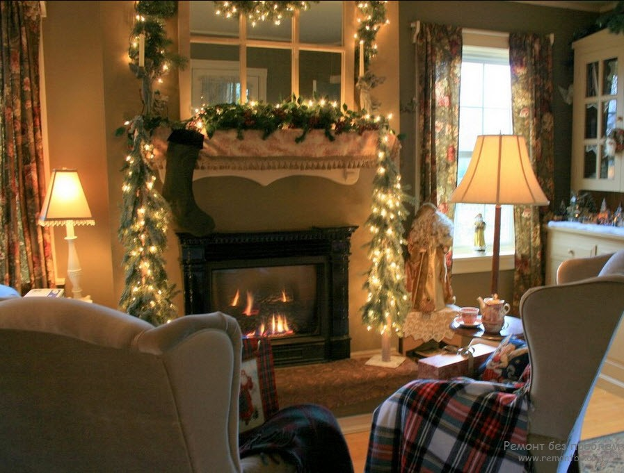 Как украсить квартиру на новый год фото