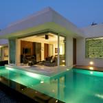 Современный дом в стиле бунгало