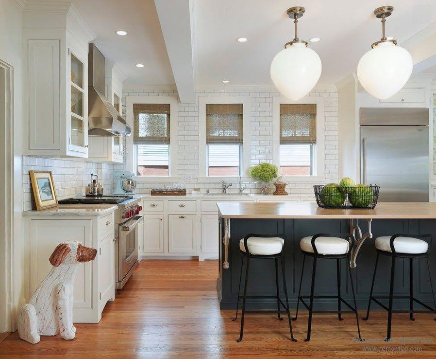 Необычное и красивое освещение на кухне