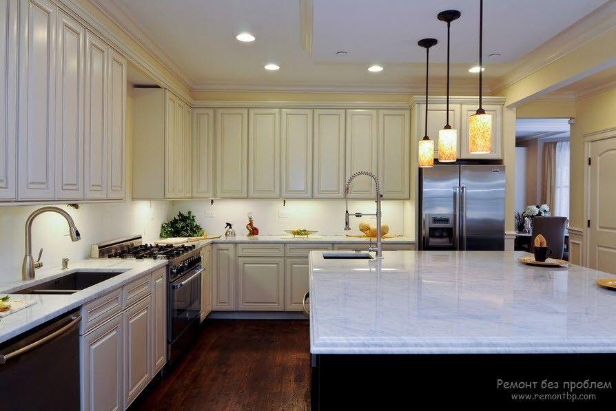 Как правильно осветить кухню