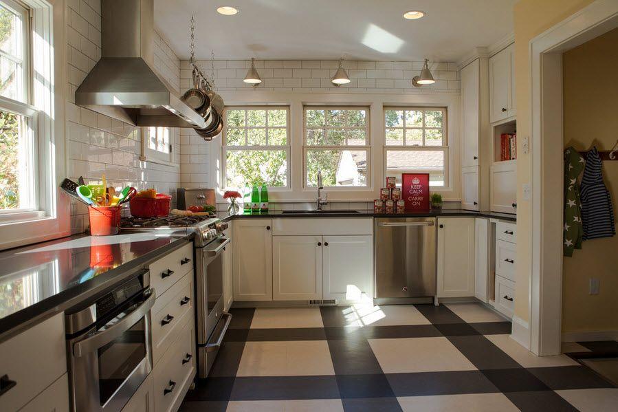 Линолеум на кухне фото