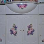 Декупаж мебели в ванной