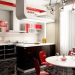 Красный оттенок на кухне